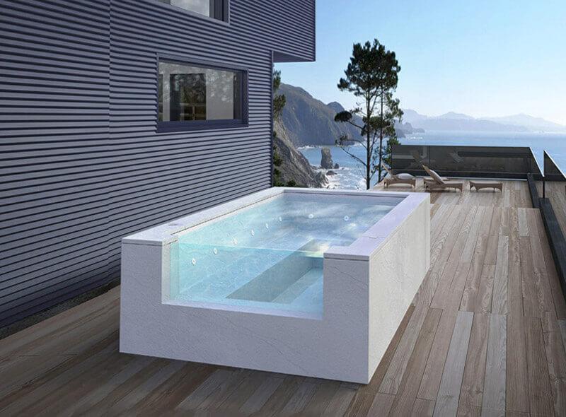 vasca idromassaggio da esterno