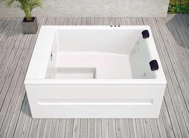 2 3 posti vasca idromassaggio esterno e interno