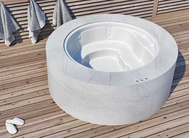 vasca idromassaggio da esterno 2 3 posti